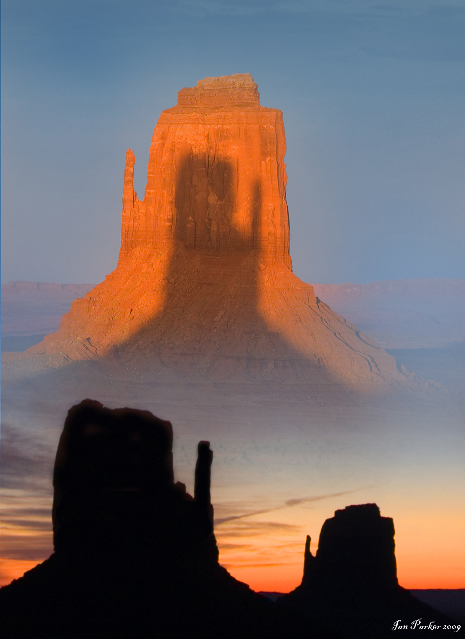 monument valley mittens shadow