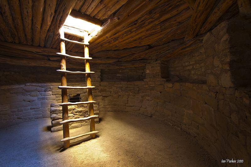 Kiva Interior And Ladder Mesa Verda