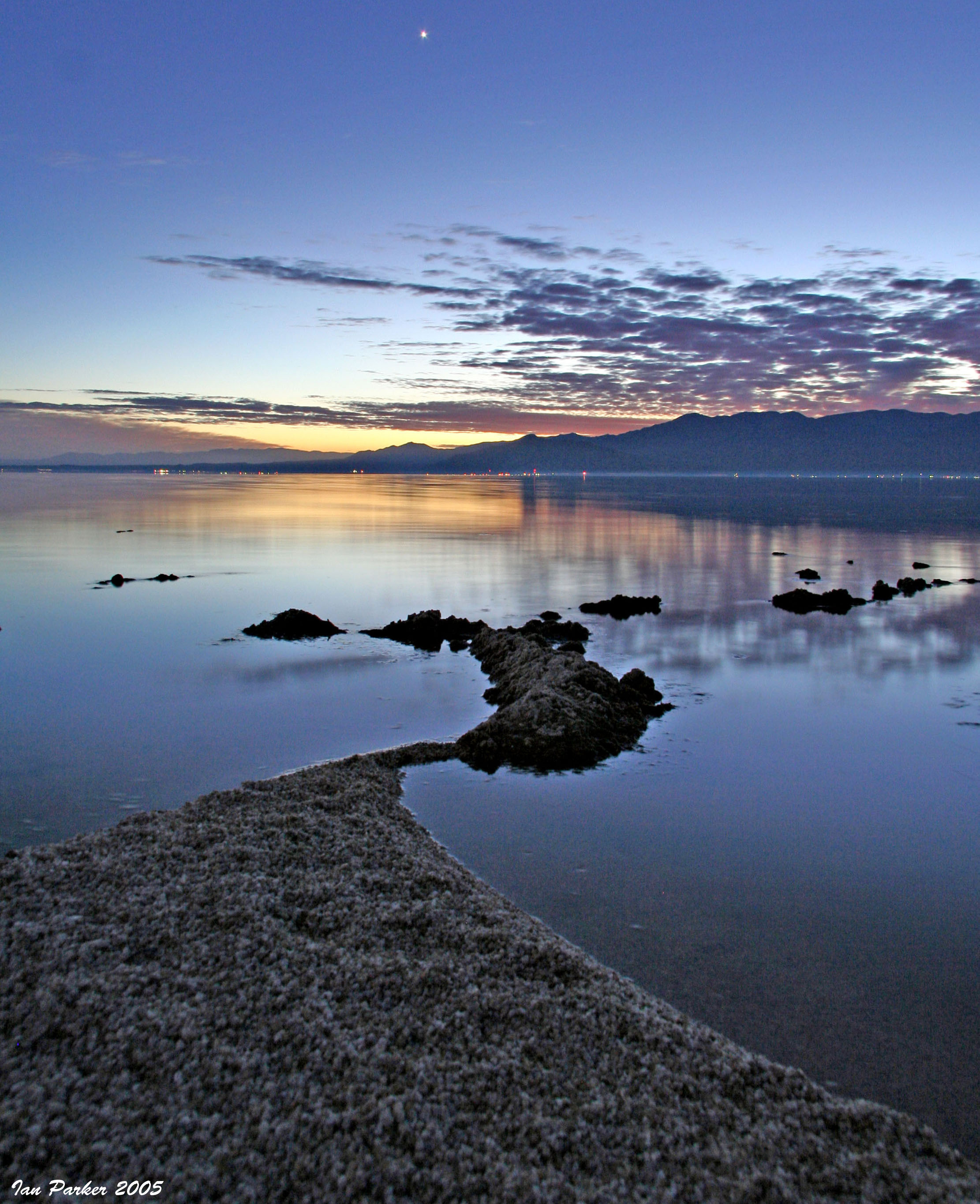 Venus over salton sea